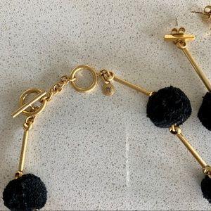 Madewell Jewelry - Madewell Pom Pom necklace & earring set